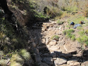 Post-fire channel stabilization at Ox Canyon in the Manzano Mountains