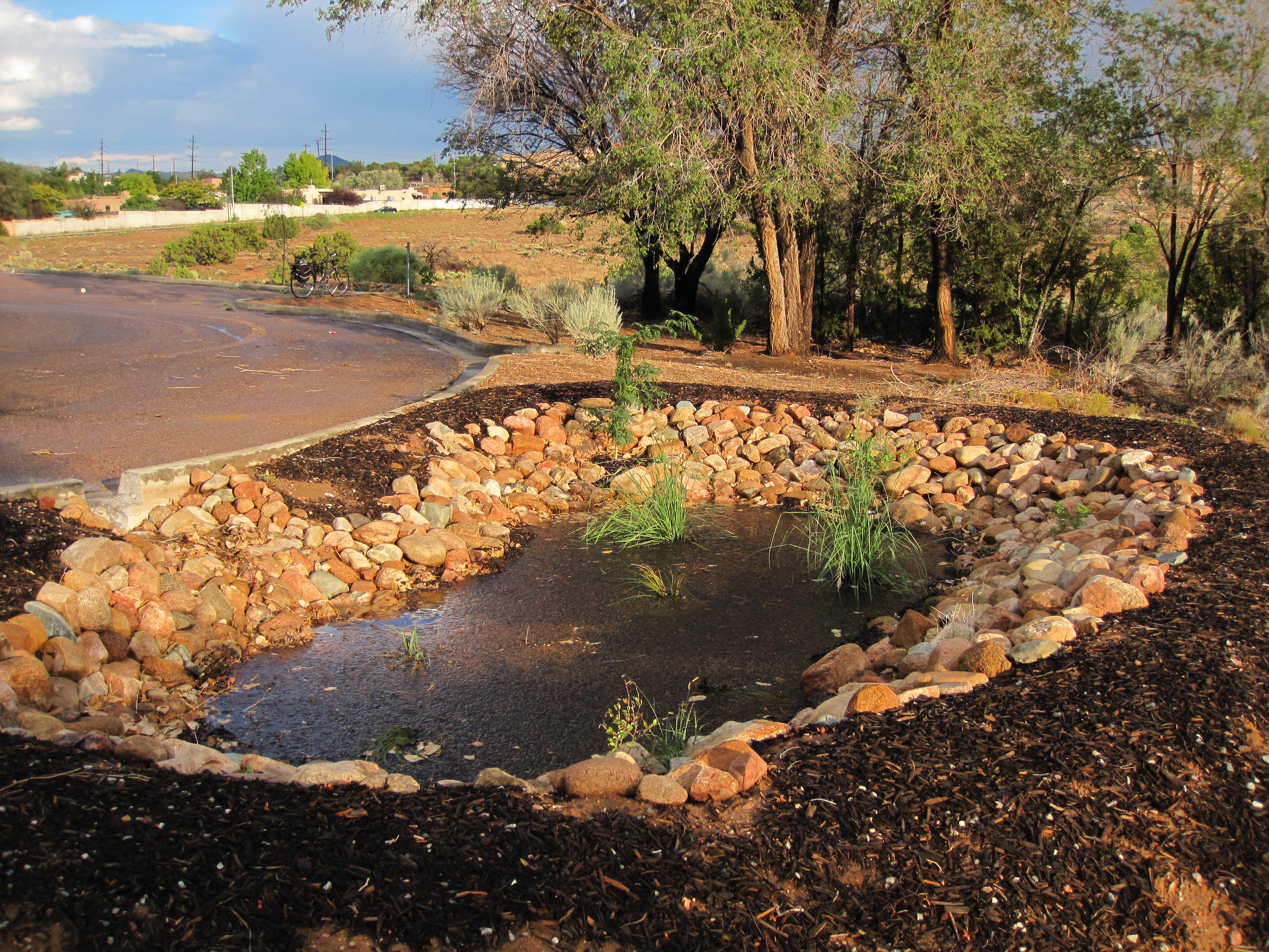 how to work out the detention capacity of bioretention basin